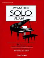 My Favorite Solo Album Sheet Music