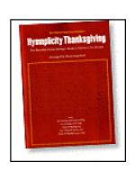 Hymnplicity Thanksgiving Sheet Music