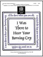 I Was There to Hear Your Borning Cry Sheet Music