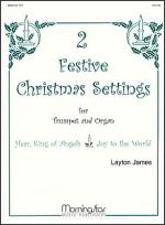Two Festive Chr. Settings for Tpt. and Organ (Bach) Sheet Music