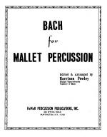 Bach for Mallet Percussion Sheet Music
