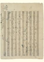 Wolfgang Amadeus Mozart Music Manuscript Greeting Card Sheet Music