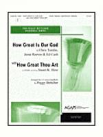 How Great is Our God with How Great Thou Art Sheet Music