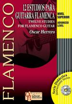 12 Studies for Flamenco Guitar, Advanced Level Book/CD Set Sheet Music