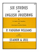 Six Studies in English Folk Song for Solo Cor Anglais and String Quartet or String Orchestra Sheet Music