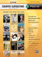 2008 Country Superstars Sheet Music Playlist Sheet Music