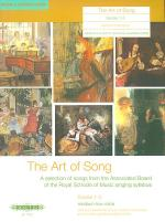 The Art of Song (Grades 1-3, medium low voice) Sheet Music