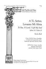A Ti, Senor, Levanto Mi Alma/To You, O Lord, I Lift My Soul Sheet Music