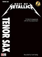 Best of Metallica for Tenor Sax Sheet Music