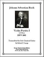 Violin Partita I in B Minor BWV 1002 Sheet Music
