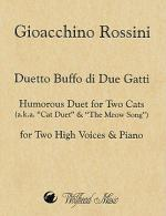 Duetto Buffo di Due Gatti / Humorous Duet for Two Cats Sheet Music