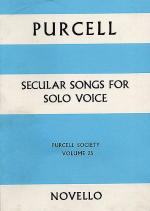 Purcell Society Volume 25 - Secular Songs For Solo Voice Sheet Music