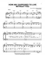 How Am I Supposed To Live Without You Sheet Music