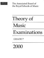 ABRSM Theory Of Music Examinations: Grade 7 (2000) Sheet Music
