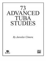 Seventy-Three Advanced Tuba Studies Sheet Music