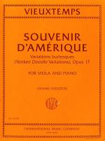 Souvenir d'Amerique, Variations burlesques (Yankee Doodle Variations), Opus 17 Sheet Music