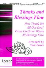 Thanks and Blessings Flow Sheet Music