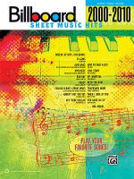 Billboard Sheet Music Hits 2000-2010 Sheet Music