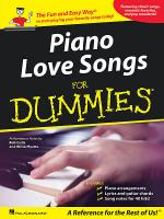 Piano Love Songs for Dummies Sheet Music