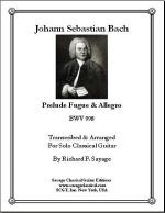 Prelude Fugue & Allegro, BWV 998 for Solo Classical Guitar Sheet Music