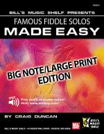 Famous Fiddle Solos Made Easy - Big Note/Large Print Edition Sheet Music
