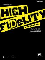 High Fidelity -- A Musical (Vocal Selections) Sheet Music