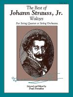 The Best of Johann Strauss, Jr. Waltzes (For String Quartet or String Orchestra) Sheet Music