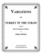 Variations on Turkey in the Straw for Bass Trombone & Piano Sheet Music