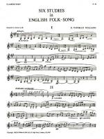 Six Studies In English Folk-Song (Clarinet) Sheet Music