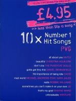 £4.95 - 10 Number One Hit Songs Sheet Music