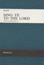 Bach, Js Sing Ye To The Lord Satb/Satb (E,G) V/S (Double Choir) Sheet Music