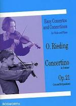 Concertino In A Minor For Violin And Piano Op.21 Sheet Music