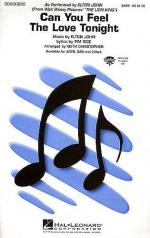 Can You Feel The Love Tonight (The Lion King) (SATB) Sheet Music