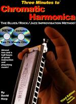 Three Minutes to Chromatic Harmonica: The Blues/Rock/Jazz Improvisation Method (Book And 3 CDs) Sheet Music