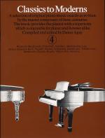 Classics To Moderns - Book 4 Sheet Music
