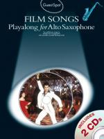 Guest Spot: Film Songs Playalong For Alto Saxophone (Book And 2 CDs) Sheet Music
