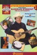 Steve Kaufman's Four-Hour Bluegrass Workout 2 (Book and 4 CDs) Sheet Music