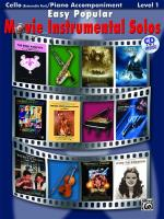 Easy Popular Movie Instrumental Solos - Cello And Piano Accompaniment Sheet Music