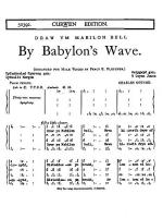by Babylon's Wave (TTBB) Tonic Sol-Fa (Welsh Text) Sheet Music