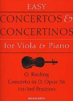 Concerto In D Op.36 (Viola/Piano) Sheet Music