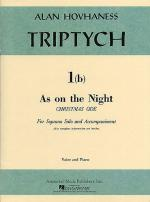 As On The Night- A Christmas Ode (Soprano/Piano) Sheet Music