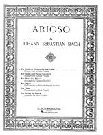J.S. Bach: Arioso (Violin(Cello)/Piano) Sheet Music