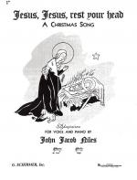 J.J. Niles: Jesus, Jesus, Rest Your Head (Low Voice) Sheet Music