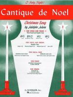 Cantique De Noel (O Holy Night) For Medium Voice In D Flat Sheet Music