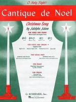 Cantique De Noel (O Holy Night) For Low Voice And Organ In B Flat Sheet Music
