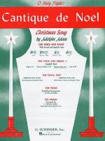 Cantique De Noel (O Holy Night) For Medium Low Voice And Organ In C Sheet Music