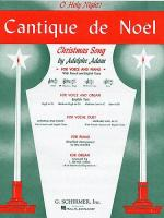 Cantique De Noel (O Holy Night) For Medium High Voice And Organ In D Flat Sheet Music