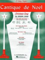 Cantique De Noel (O Holy Night)For High Voice And Organ In E Flat Sheet Music