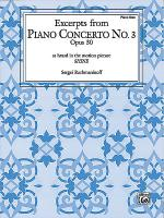 Piano Concerto No. 3, Op. 30 - Excerpts Sheet Music