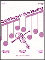 Quick Steps to Notereading, Vol 1, Viola Sheet Music